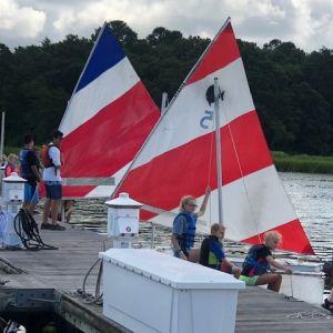 boat prep at the dock