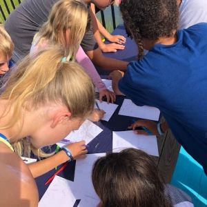 campers charting their course