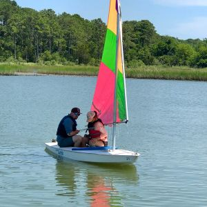 instructor and student on the water
